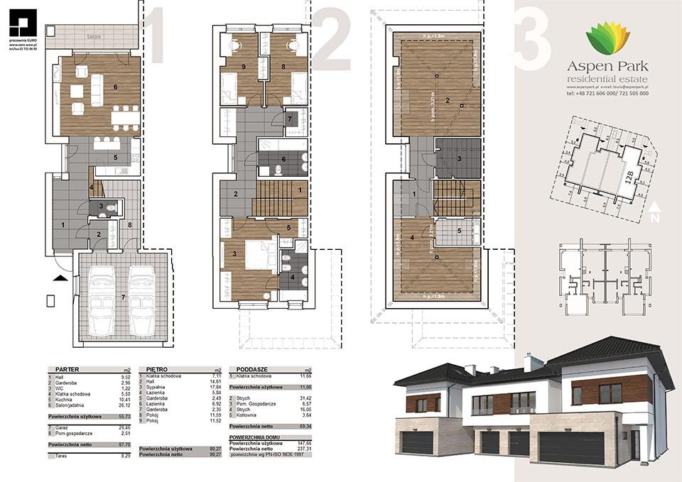 Dom D4M1 - 12B - Seledynowa