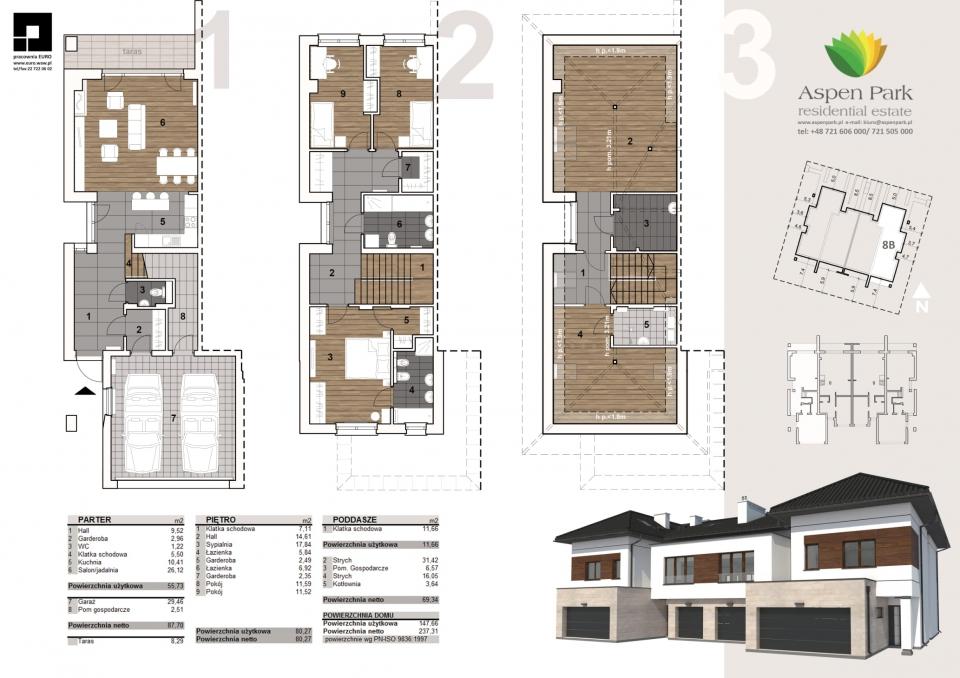 Dom D4M1 - 8B - Seledynowa